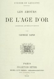 Evenor et Leucippe Les amours de l'Âge d'Or - Légende antidéluvienne