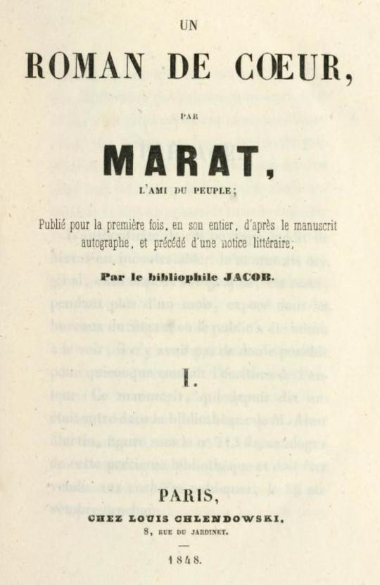Les aventures du jeune Comte Potowski, Vol. 1 (of 2) Un roman de cœur par Marat, l'ami du peuple