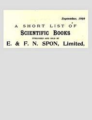 A Short List of Scientific Books Sept. 1909