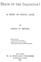 Death to the Inquisitive! A story of sinful love