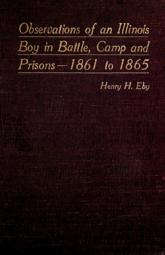 Observations of an Illinois Boy in Battle, Camp and Prisons—1861 to 1865