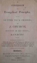 A Confession of Evangelical Principles in a letter to a friend