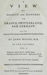 A View of Society and Manners in France, Switzerland, and Germany, Volume I (of 2) With Anecdotes Relating to Some Eminent Characters