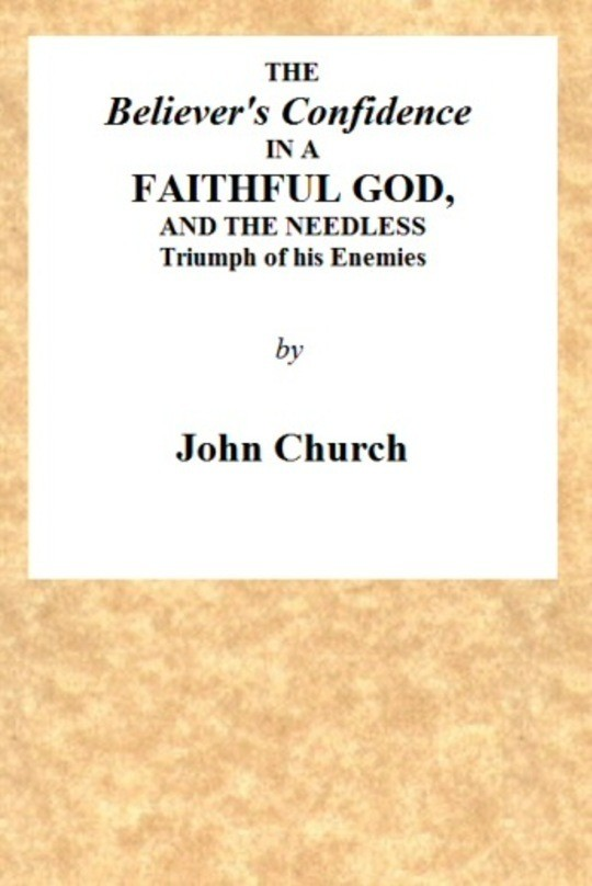 The Believer's Confidence in a Faithful God and the needless triumph of his enemies