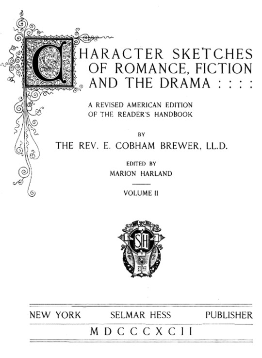 Character Sketches of Romance, Fiction, and the Drama, Vol 2 (of 4)