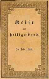 Reise ins heilige Land Im Jahr 1829