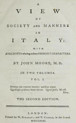 A View of Society and Manners in Italy, Volume I (of 2) With Anecdotes Relating to some Eminent Characters