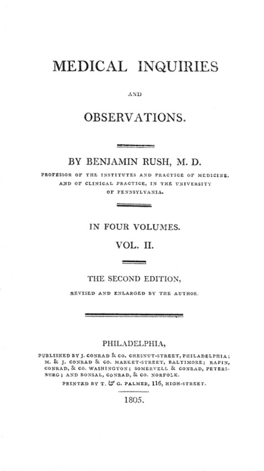 Medical Inquiries and Observations, Vol. II (of 4) The Second Edition, Revised and Enlarged by the Author