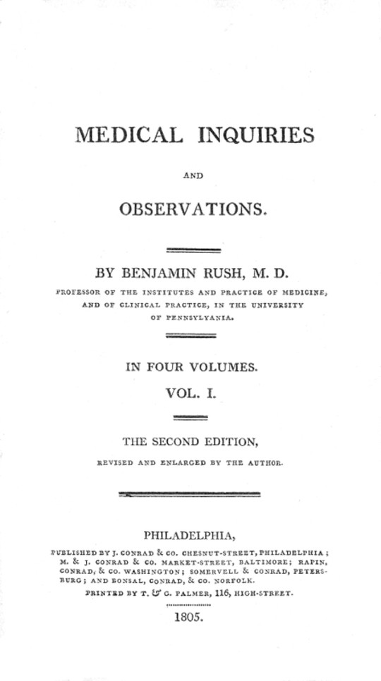 Medical Inquiries and Observations, Vol. I (of 4) The Second Edition, Revised and Enlarged by the Author