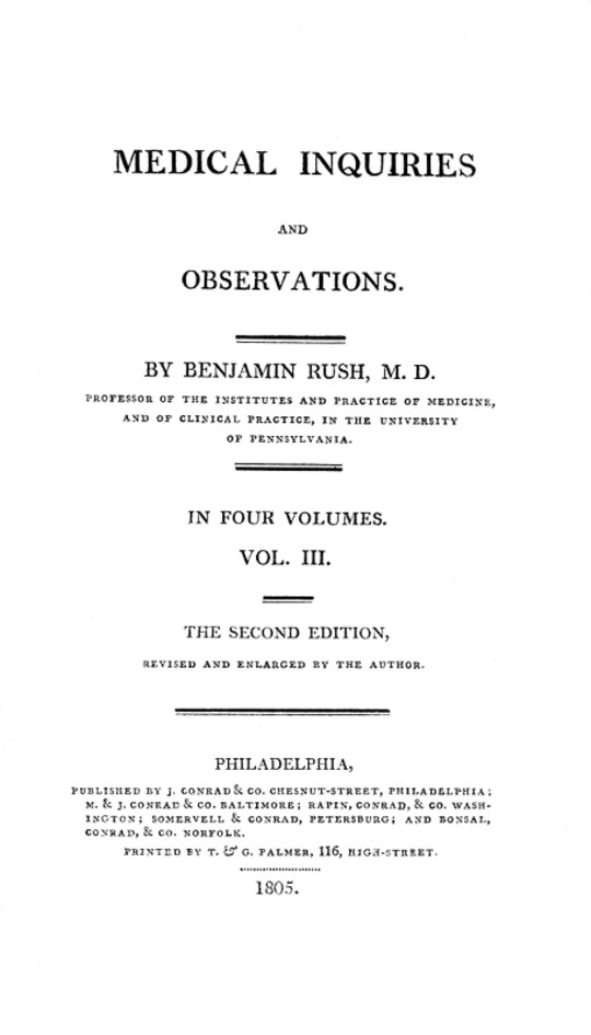 Medical Inquiries and Observations, Vol. III (of 4) The Second Edition, Revised and Enlarged by the Author