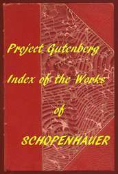 Index of the Project Gutenberg Works of Arthur Schopenhauer