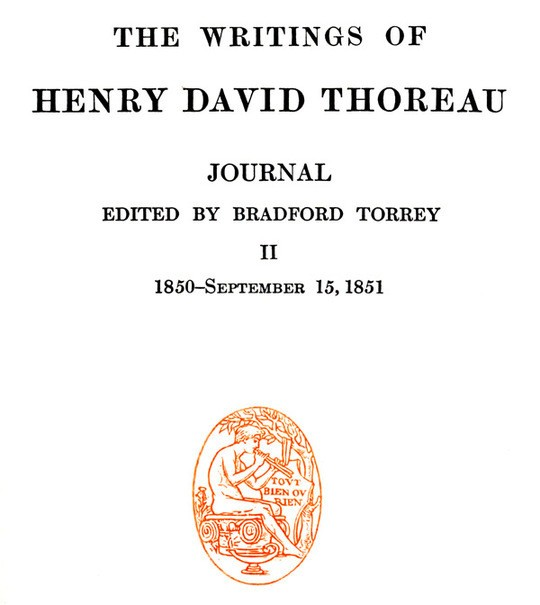 The Writings of Henry David Thoreau, Volume 8 (of 20) Journal II, 1850-September 15, 1851