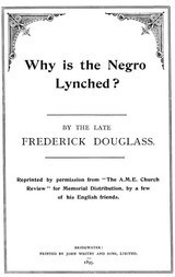 Why is the Negro Lynched?