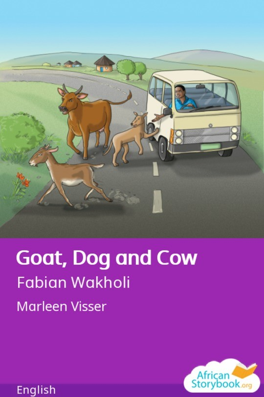 Goat, Dog and Cow