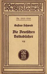 Die Deutschen Volksbücher VII Die Schildbürger - Doktor Faustus