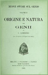 Nuovi studii sul genio vol. II (Origine e natura dei genii)