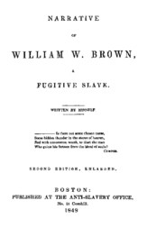 Narrative of William W. Brown, a Fugitive Slave Second Edition