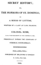 Secret History or, the Horrors of St. Domingo