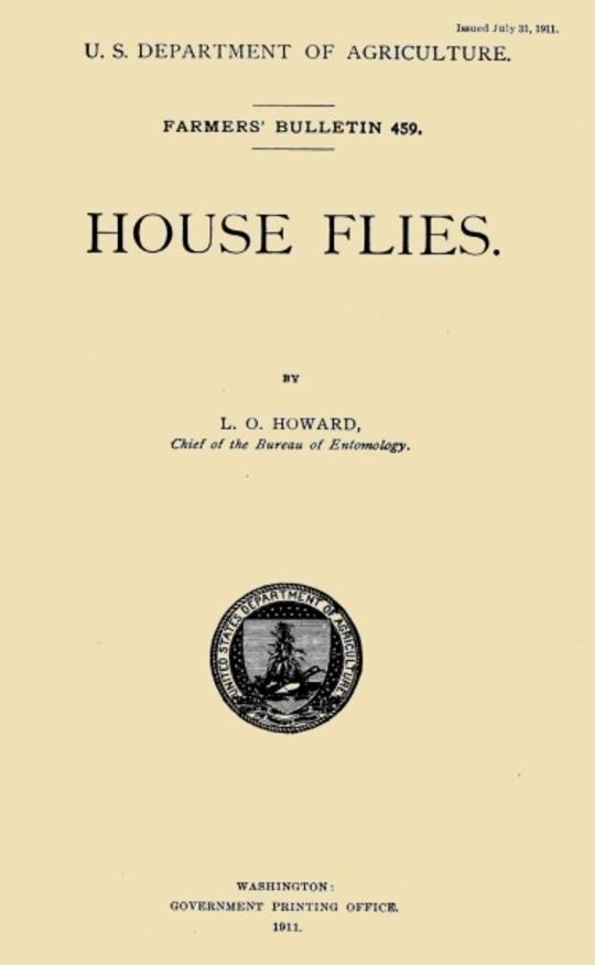 USDA Farmers' Bulletin 459: House Flies
