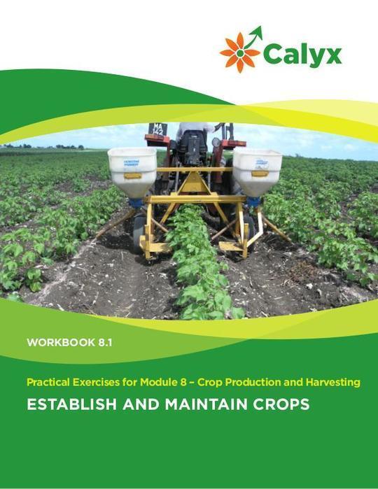 Establish and Maintain Crops
