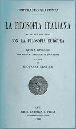 La filosofia italiana nelle sue relazioni con la filosofia europea