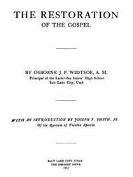 The Restoration of the Gospel