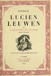 Lucien Leeuwen ou l'Amarante et le Noir Tome Premier