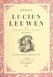 Lucien Leeuwen ou l'Amarante et le Noir Tome Second