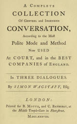 Polite Conversation In Three Dialogues by Jonathan Swift with Introduction and Notes by George Saintsbury