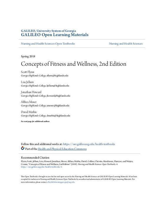 Concepts of Fitness and Wellness, 2nd Edition