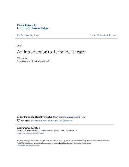 An Introduction to Technical Theatre