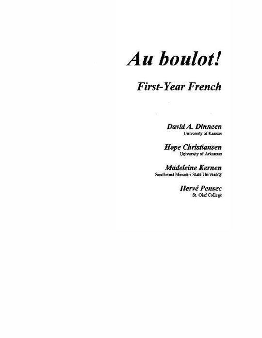 Dinneen_CC_Au_boulot__First-Year_French