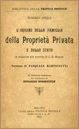 L'origine della Famiglia della Proprietà privata e dello Stato in relazione alle ricerche di L. H. Morgan