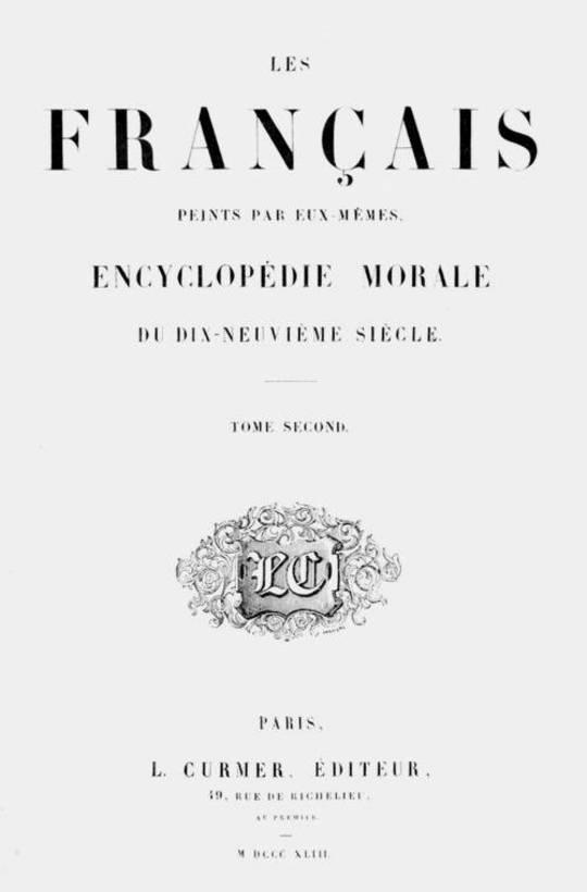 Les Français peints par eux-mêmes, tome 2 Encyclopédie morale du dix-neuvième siècle