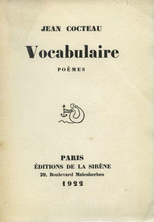 Vocabulaire,  Poèmes
