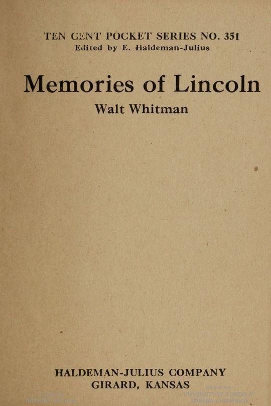 Memories of Lincoln