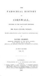 The Parochial History of Cornwall, Volume 4 (of 4)