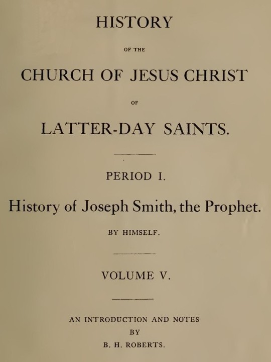History of the Church of Jesus Christ of Latter-day Saints, Volume 5