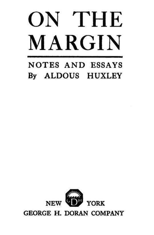 On the Margin Notes and Essays