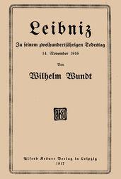 Leibniz Zu seinem zweihunderjährigen Todestag 14. November 1916