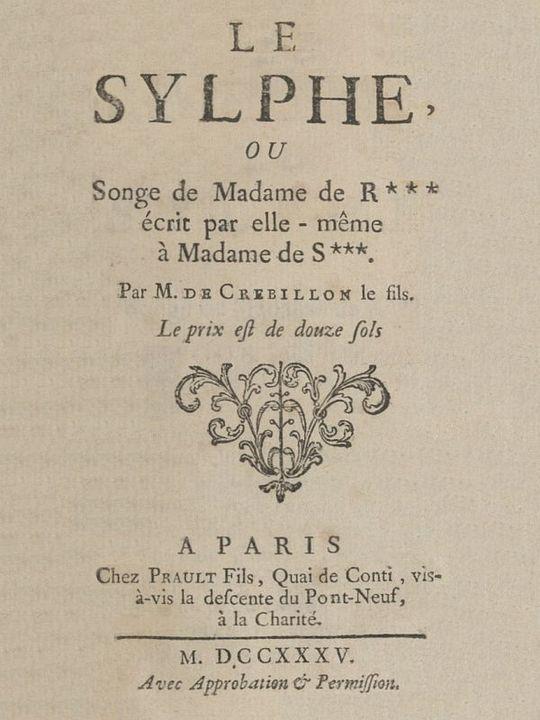 Le Sylphe ou Songe de Mme de R***, écrit par elle-même à Mme de S***