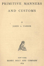 Primitive Manners and Customs