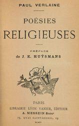 Poésies religieuses Préface de J. K. Huÿsmans