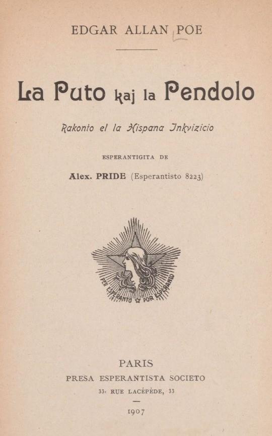 La Puto kaj la Pendolo Rakonto el la Hispana Inkvizicio