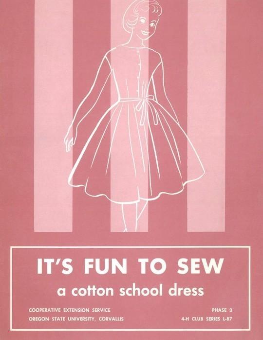 It's Fun to Sew a Cotton School Dress