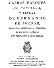 Claros varones de Castilla, y Letras