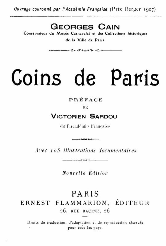 Coins de Paris