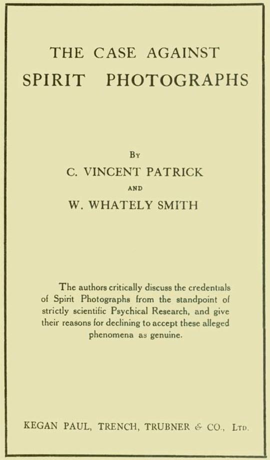 The Case Against Spirit Photographs