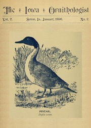 The Iowa Ornithologist, Volume 2, No. 2, January 1896 / For the Student of Birds