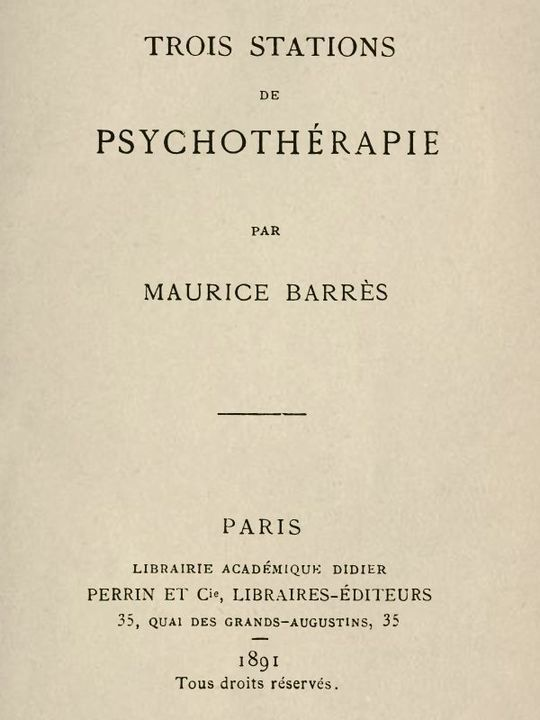 Trois Stations de psychothérapie